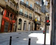 It was very hilly in Vigo, Spain. This is a little side street.